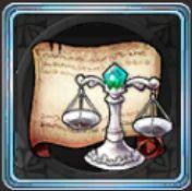 宝石商の天秤図案